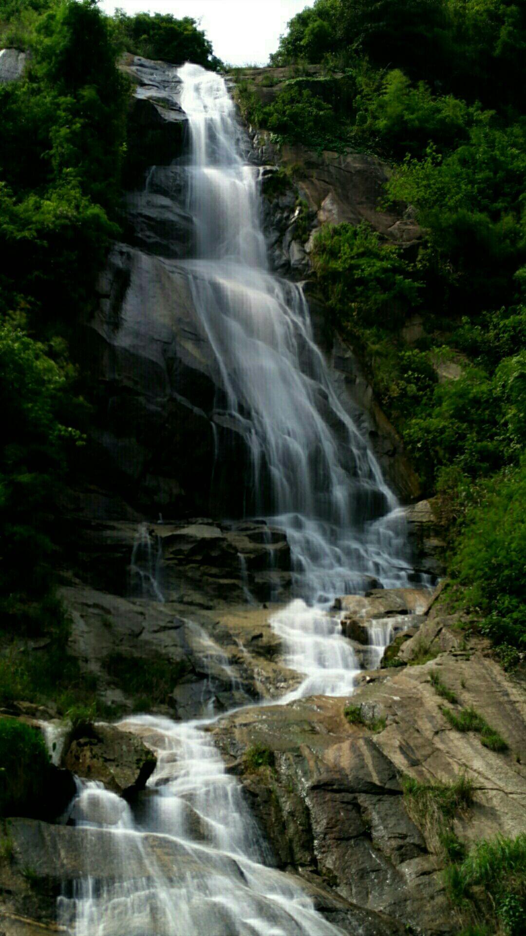 壁纸 风景 旅游 瀑布 山水 桌面 1080_1920 竖版 竖屏 手机